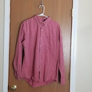 Izod Red Button Down Long Sleeve Shirt Large
